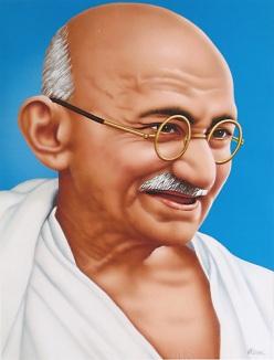 Resultado de imagen de gandhi caricatura