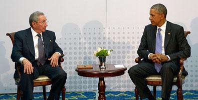 Raúl Castro y Barack Obama 2